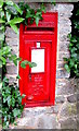 SY3392 : Queen Elizabeth II postbox in an Uplyme Road wall, Lyme Regis by Jaggery