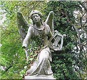 TG2408 : Memorial for Beryl Cushion - angel by Evelyn Simak