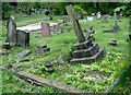 TG2408 : Subsidence and leaning gravestones in Section P by Evelyn Simak