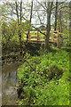 ST4609 : Footbridge over River Parrett by Derek Harper