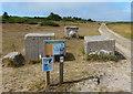 TM4764 : Anti-tank blocks along the Suffolk Coast Path by Mat Fascione