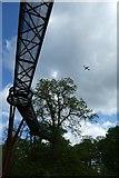 TQ1876 : Treetop walkway and Heathrow flight by DS Pugh