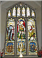 TF5002 : Great War Memorial window in Upwell St. Peter's church by Adrian S Pye