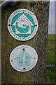 TG4907 : Waymarkers near Stone Corner by Ian S