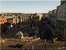 SK3587 : Sheffield: looking down on Fitzalan Square by Chris Downer