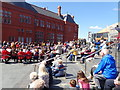ST1974 : Royal Welch Fusiliers Band entertain the crowds at Pierhead by Eirian Evans