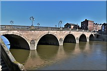 SO8454 : Worcester Bridge over the River Severn by Michael Garlick
