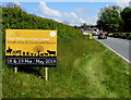 SN5748 : Smallholding & Countryside Festival advert, Llanwnnen Road, Lampeter by Jaggery