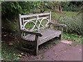 SP1833 : Bench, Batsford Arboretum by Ann