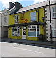 SN5748 : Yellow premises in High Street, Lampeter by Jaggery