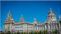 SJ3390 : Royal Liver Building (and others) by Peter Moore