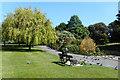 TQ2279 : Feeding the birds in Ravenscourt Park by Des Blenkinsopp