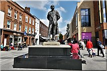 SO8554 : Worcester High Street: Statue of Sir Edward Elgar by Kenneth Potts 2 by Michael Garlick