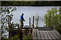 H5775 : Angling at Loughmacrory Lough by Kenneth  Allen