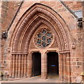 NY3955 : Carlisle cathedral, main entrance by Rudi Winter