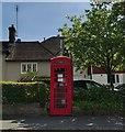 TQ7213 : K6 Telephone Box at Catsfield by PAUL FARMER