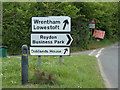 TM5077 : Roadsigns on the B1127 Lowestoft Road by Adrian Cable