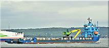 "J3778 : The ""Meri"", Belfast harbour (May 2019) by Albert Bridge"