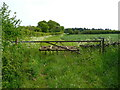 TL1027 : Field entrance and start of track off Hexton Road, Lilley by Humphrey Bolton