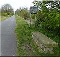 SJ3668 : England/Wales border near Blacon by Mat Fascione