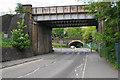 TQ2952 : Railway bridges over Bletchingley Road by Bill Boaden