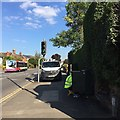 SP2965 : Openreach engineer at work, Emscote Road, Warwick by Robin Stott