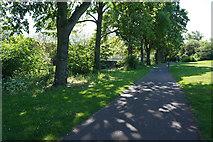 SK3536 : Footbridge across the River Derwent by Malcolm Neal