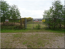 SJ9715 : Entrance to sand and gravel pit, Cannock Chase  by JThomas