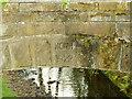 SE0237 : Datestone on the aqueduct alongside Lord Bridge by Stephen Craven