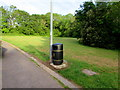 ST3091 : Combined litter and dog waste bin, Claremont, Newport by Jaggery