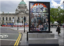 J3374 : Game Of Thrones window one, Belfast by Rossographer