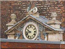 SK3635 : Railway clock on Wyvern House, Railway Terrace, Derby by Stephen Craven
