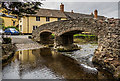 SS8946 : Allerford Packhorse Bridge by Mike Searle