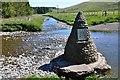 NT2400 : Cairn and confluence, Samye Ling Tibetan Centre by Jim Barton