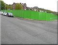 TR3142 : Hoarding on corner Godwyne Road & Harold Street by John Baker