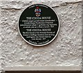 SH7882 : Green plaque: The Cocoa House by Gerald England