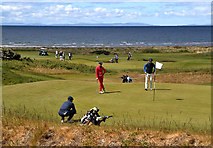 NS2005 : Golfers at Trump Turnberry by Walter Baxter