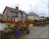 SJ3554 : Houses on Chester Road, Gresford by JThomas