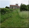 ST6091 : Grassy track towards St Arilda's Church, Oldbury-on-Severn by Jaggery