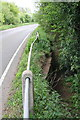 SK7018 : Culverted drain on SW side of Station Lane by Roger Templeman
