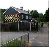 ST3090 : Newport County banner on a Malpas Road house, Newport by Jaggery