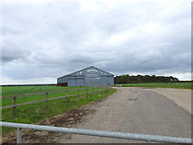 TF9038 : East Hangar, North Creake airfield by Adrian S Pye
