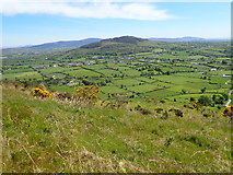 J0016 : Bog Road, Forkhill, viewed from the slopes of Croslieve by Eric Jones