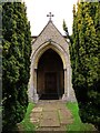 SP6029 : The porch of St Michael and All Angels Church in Fringford by Steve Daniels