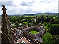 SO5139 : View south-east from Hereford Cathedral tower roof by Brian Robert Marshall