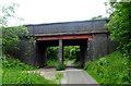 SJ2778 : Boathouse Lane bridge over National Cycle Route 56 by JThomas