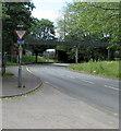 ST3188 : Give Way sign alongside the B4591, Crindau, Newport by Jaggery