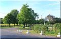 TL0868 : Driveway to Tilbrook Hall by Des Blenkinsopp