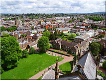 SO5139 : View north-east from Hereford Cathedral tower by Brian Robert Marshall