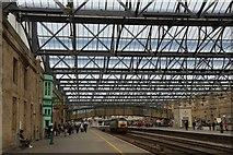 NY4055 : Platform 3 at Carlisle Citadel Railway Station, Great Britain by Andrew Tryon